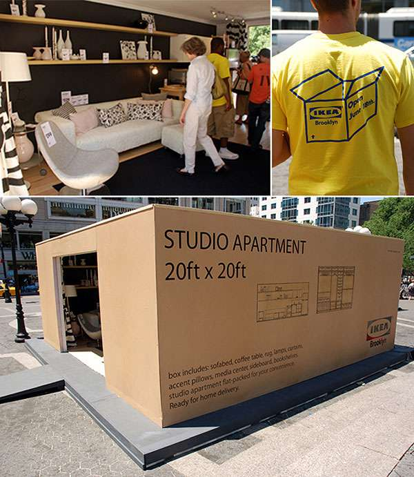 Pop-Up Roomvertising: Ikea Sets Up Fake Rooms Throughout NYC