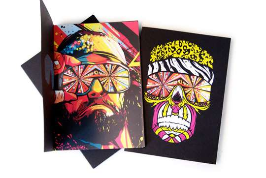 Technicolor Wrestler Notepads