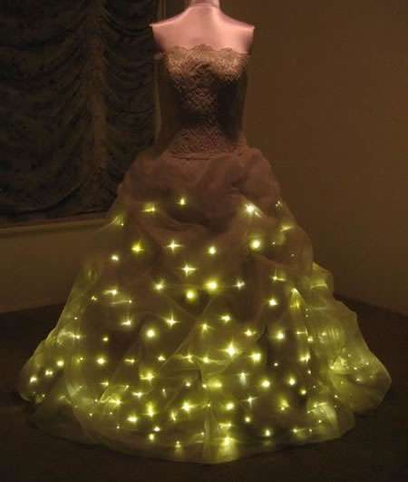 illuminated bridal gowns led wedding dress features 300