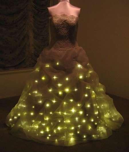 Illuminated Bridal Gowns Led Wedding Dress Features 300