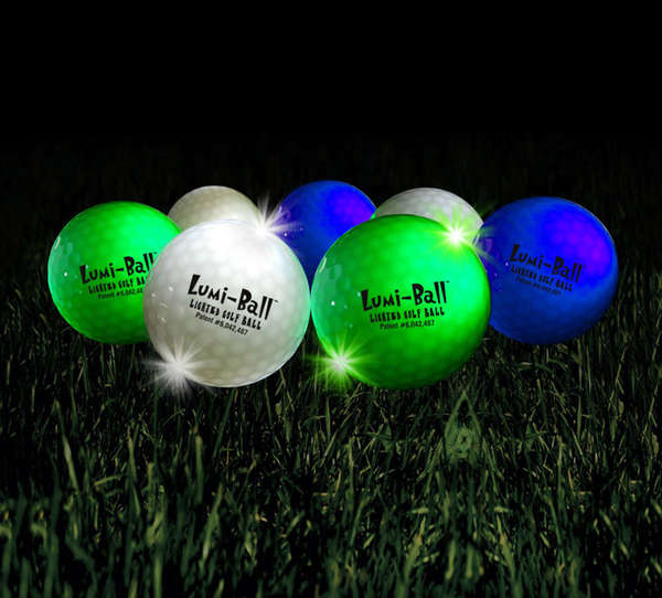 Vibrantly Illuminated Golf Balls