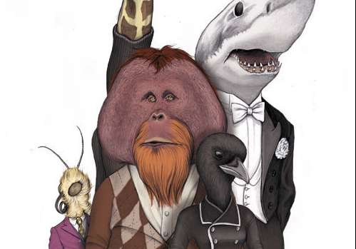 Dapper Animal Drawings