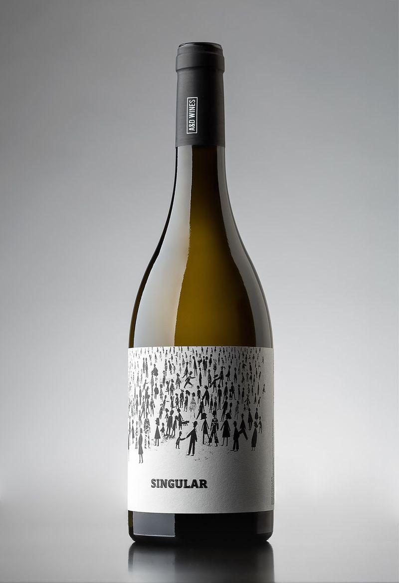 Shadowed Illustration Wine Branding