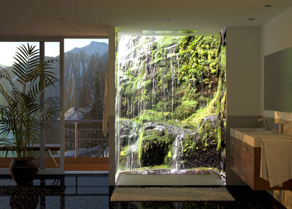 immersive shower murals image wrap. Black Bedroom Furniture Sets. Home Design Ideas