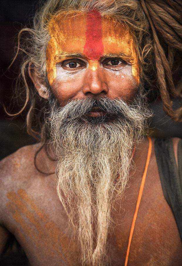 Saffron Sadhus Portraits