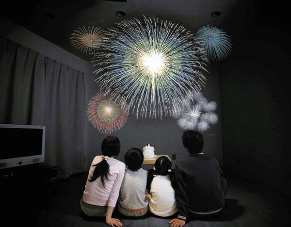 In Home Fireworks Theater