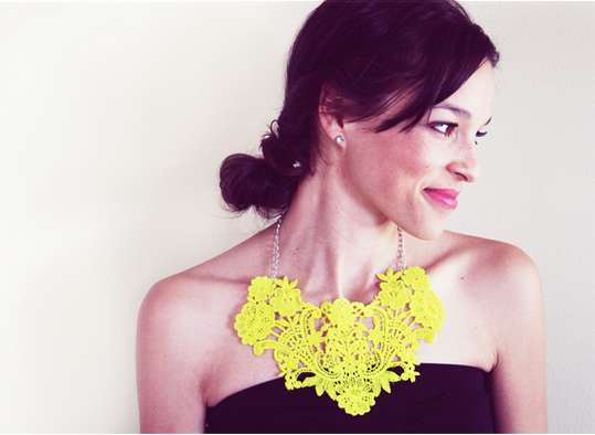 'In Honor of Design' DIY Crochet Bib Necklace