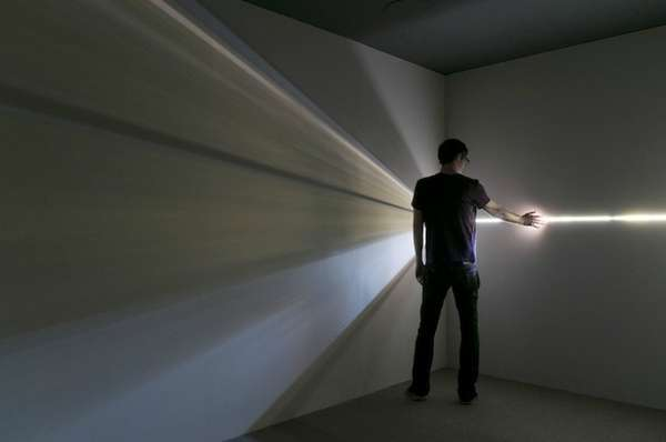 Interactive Geometric Light Installations