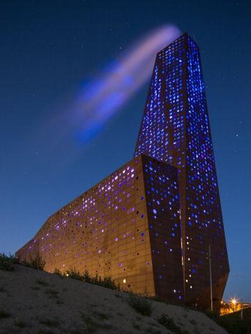 Illuminated Industrial Architecture