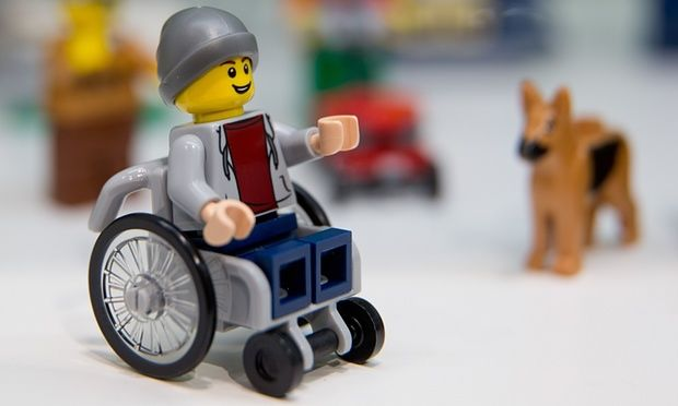 Wheelchair-Using LEGO Charcters