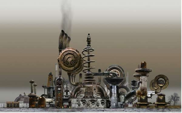 Mechanized Factory Sculptures
