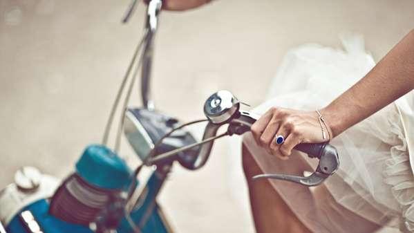 Bicycling Bridal Beauties