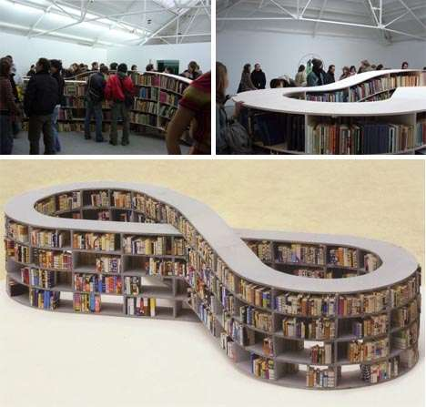 Racetrack Bookshelves