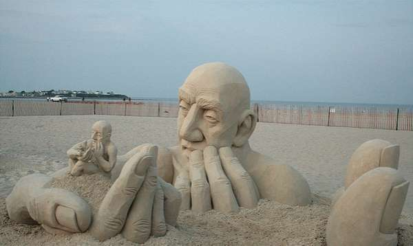 Man-Within-Man Sand Sculptures