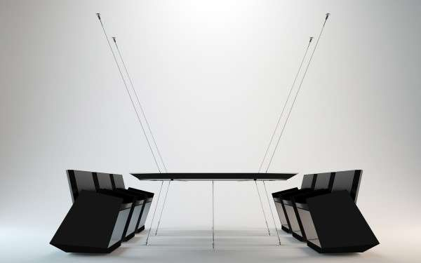 Wire Suspended Furniture Infinity Conference Table