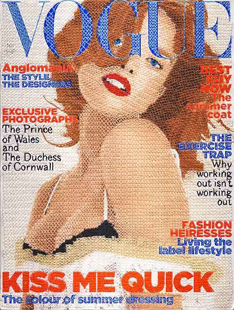Embroidered Fashion Mags