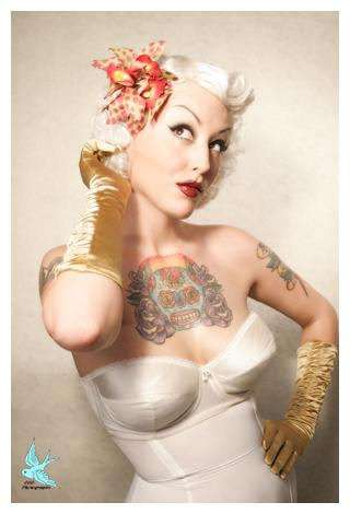 inked pin up studios 666photography has handmade costumes props burlesque tattoos. Black Bedroom Furniture Sets. Home Design Ideas