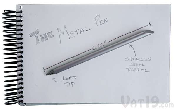 Inkless Metal Pen