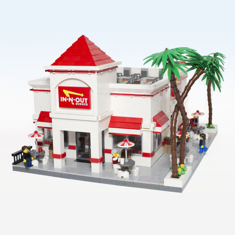 Lego Burger Joints In N Out Lego