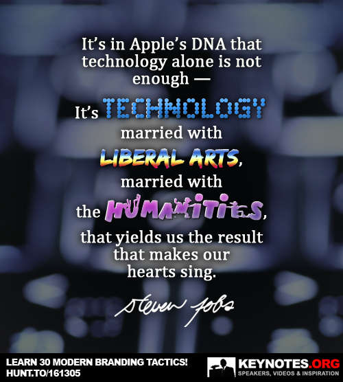It's in Apple's DNA That Technology is Not Enough