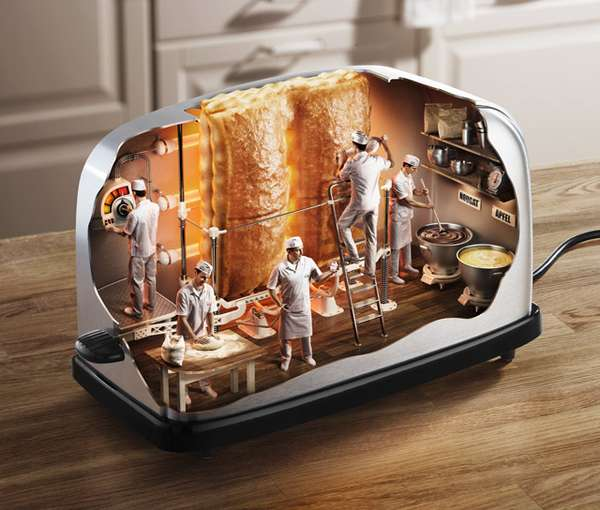 Inside Of A Toaster ~ Dissected appliance art inside toaster by mladen panev