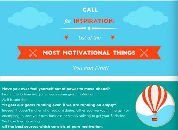 Helpful Motivation Lists