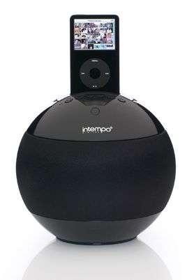Spherical iPod Speaker-Dock