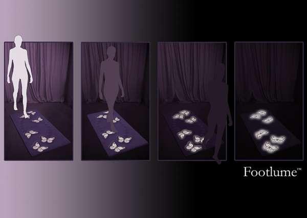 Interactive Glowing Rugs High Tech Flooring