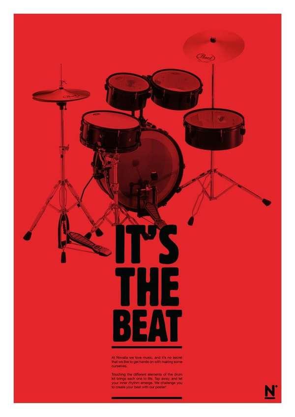 Interactive Drum Posters