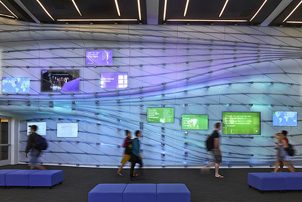 Interactive Scholarly Assignment Projectors interactive wall