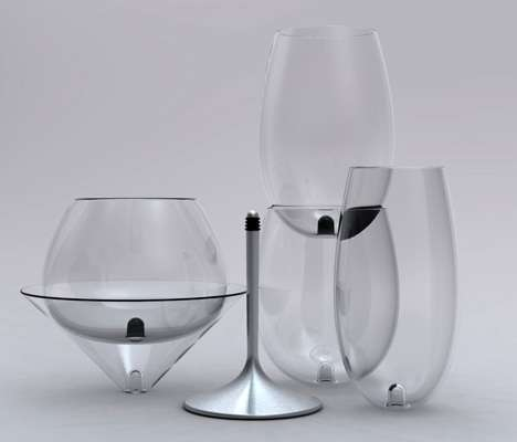 Interchangeable Wine Glasses