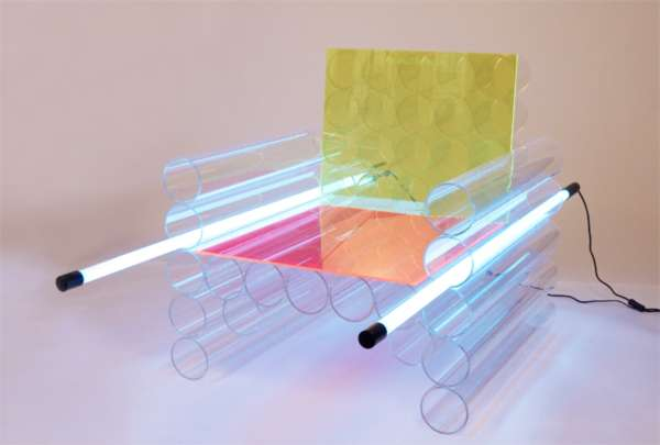 Fluorescent Plexiglas Seating