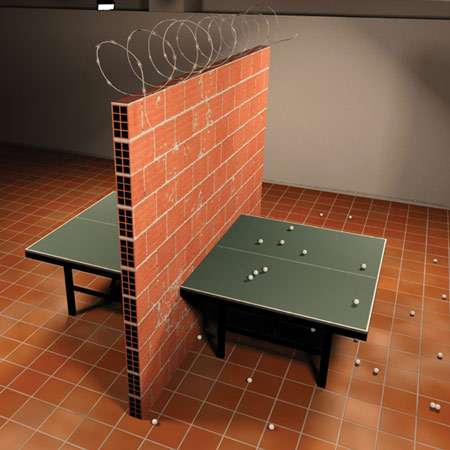 Intifada Ping Pong Table