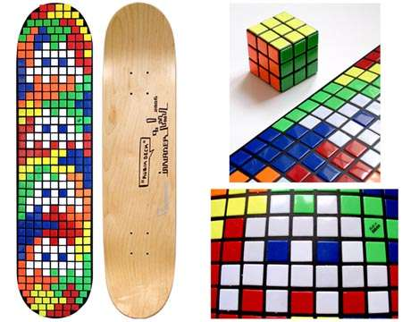 Invader x Mekanism Skateboards