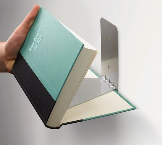 Invisible Bookshelf Designs