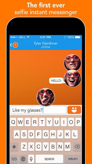 Selfie Messaging Apps