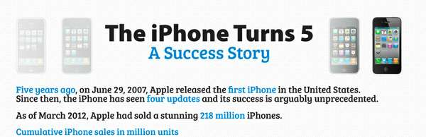 iphone 5 year anniversary infographic