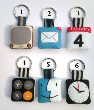 iphone icon key chain