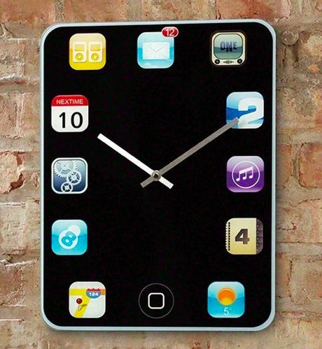 Smartphone Inspired Timepieces Iphone Wall Clock