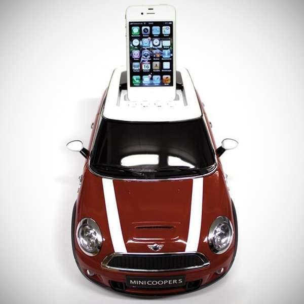 stylish small car docks ipod docking station. Black Bedroom Furniture Sets. Home Design Ideas