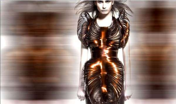 Futuristic Metallic Fashion