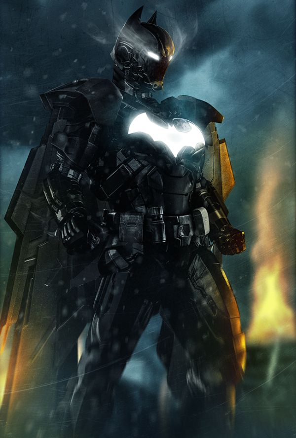 Iron-Armored Superhero Illustrations