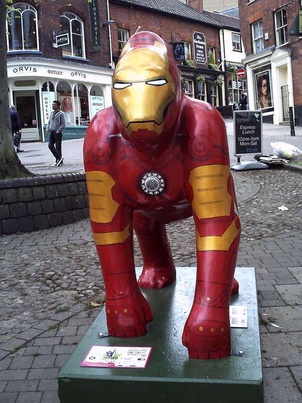 Animalistic Superhero Sculptures