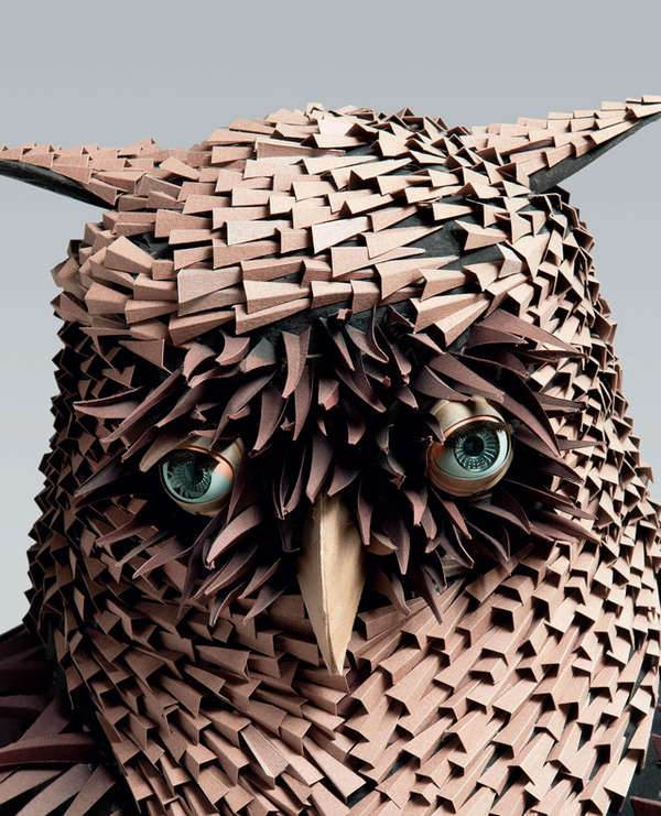 Cartoon-Like Paper Sculptures