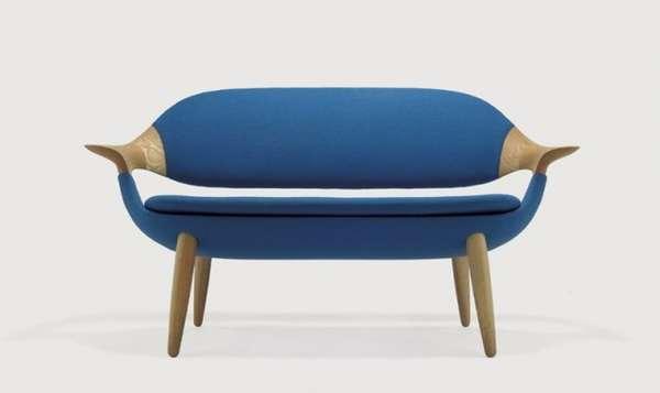 Graceful Material-Contrasting Furniture