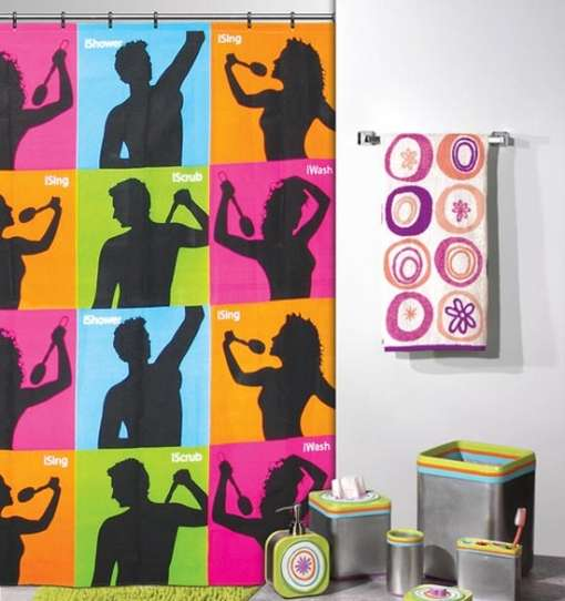 Ad-Inspired Shower Curtains
