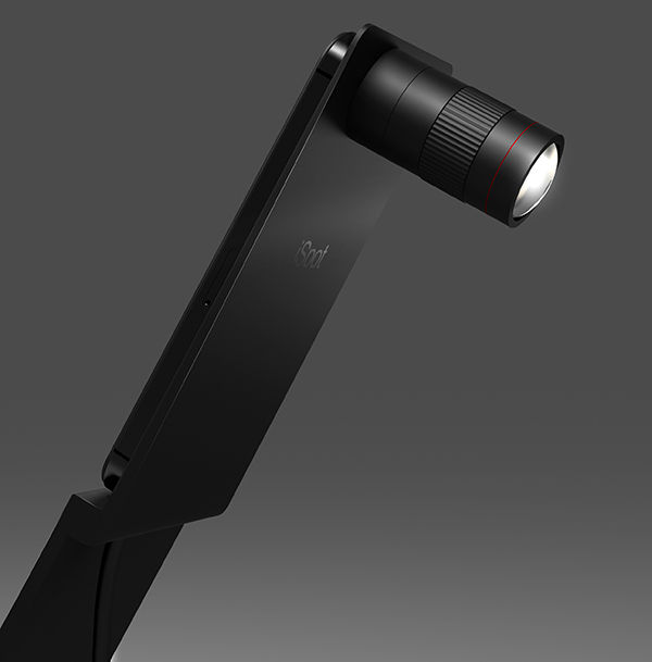 Sleek Camera Lens Lighting