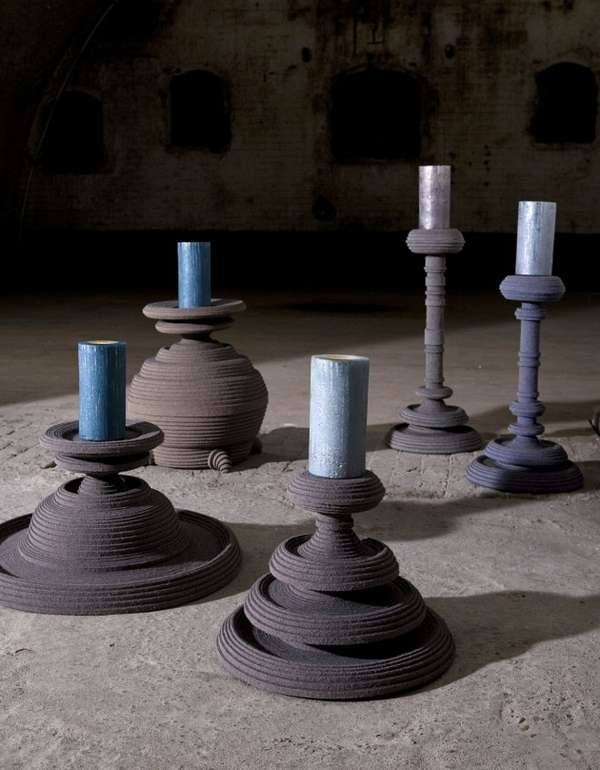 Tiered Textured Candleholders
