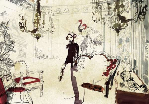 Italian Room Illustrations