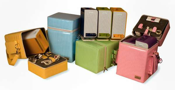 Portable Pastel Speakers